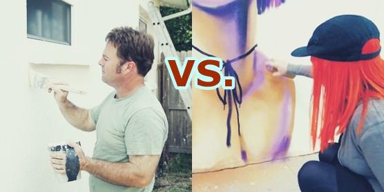 spray or brush paint